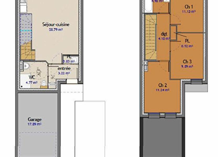 Maison à vendre 79m2 à Metz