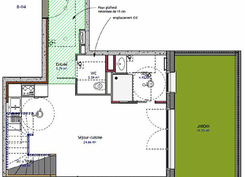 Appartement à vendre 69.87m2 à Metz