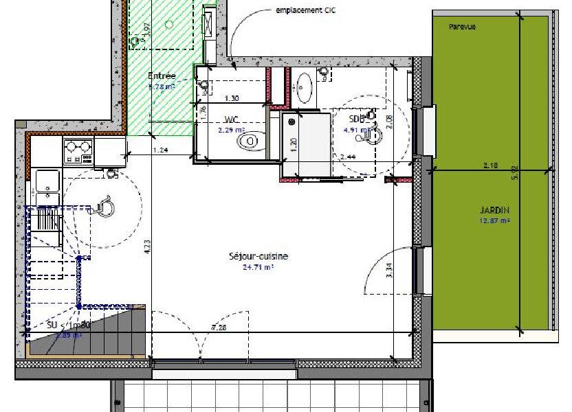 Appartement à vendre 70.05m2 à Metz