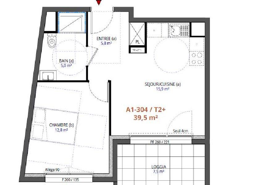 Appartement à vendre 39.5m2 à Metz