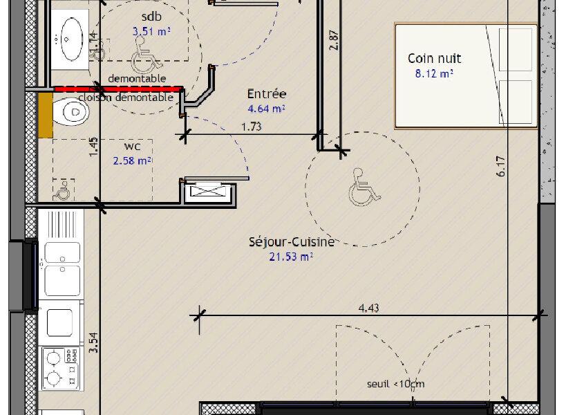 Appartement à vendre 40.87m2 à Metz