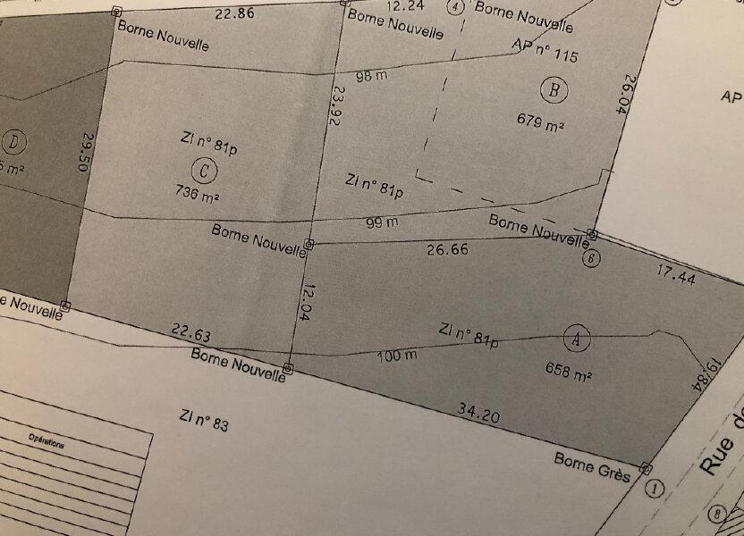 Terrain à vendre 658m2 à Saint-Rémy-la-Vanne
