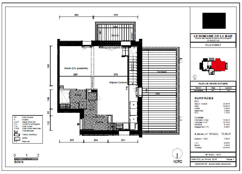 Appartement à vendre 76.95m2 à La Baule-Escoublac