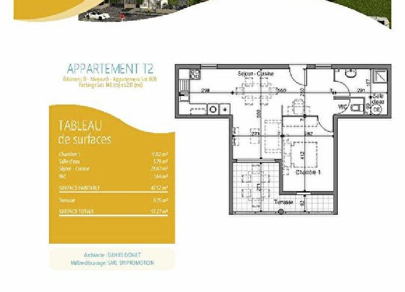 Appartement à louer 47.52m2 à Fort-de-France
