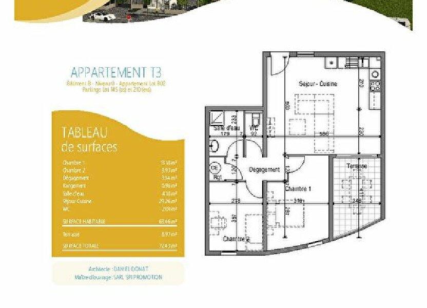Appartement à louer 63.46m2 à Fort-de-France