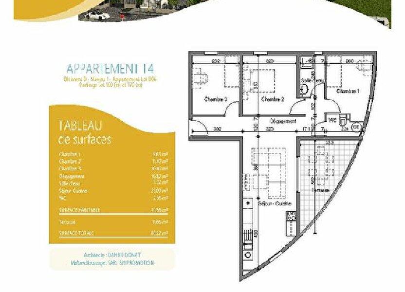 Appartement à louer 66.72m2 à Fort-de-France