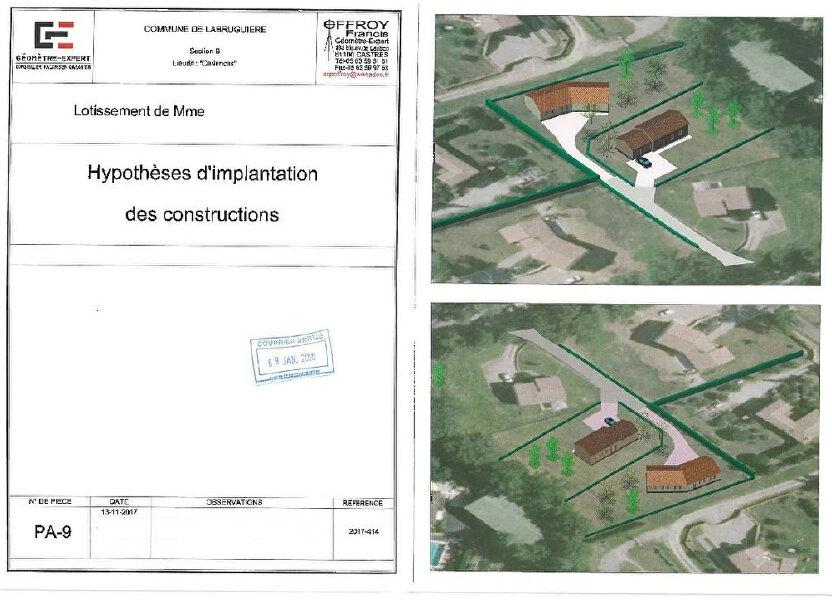 Terrain à vendre 1140m2 à Labruguière