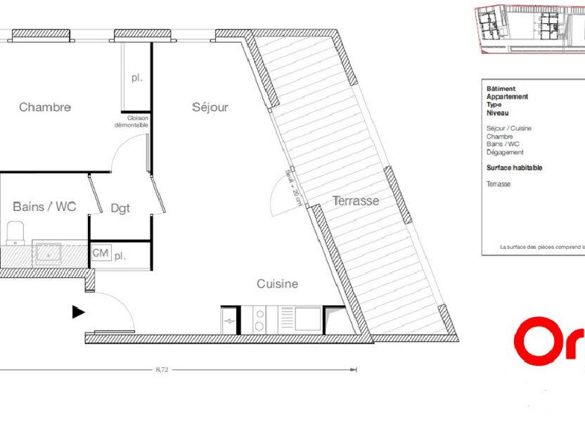Appartement à vendre 42.9m2 à Ecquevilly