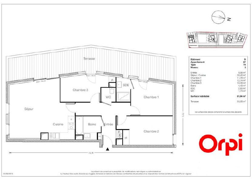 Appartement à vendre 81.94m2 à Ecquevilly