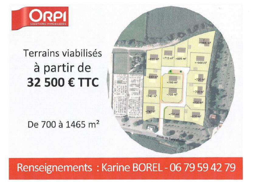 Terrain à vendre 700m2 à Baudrières