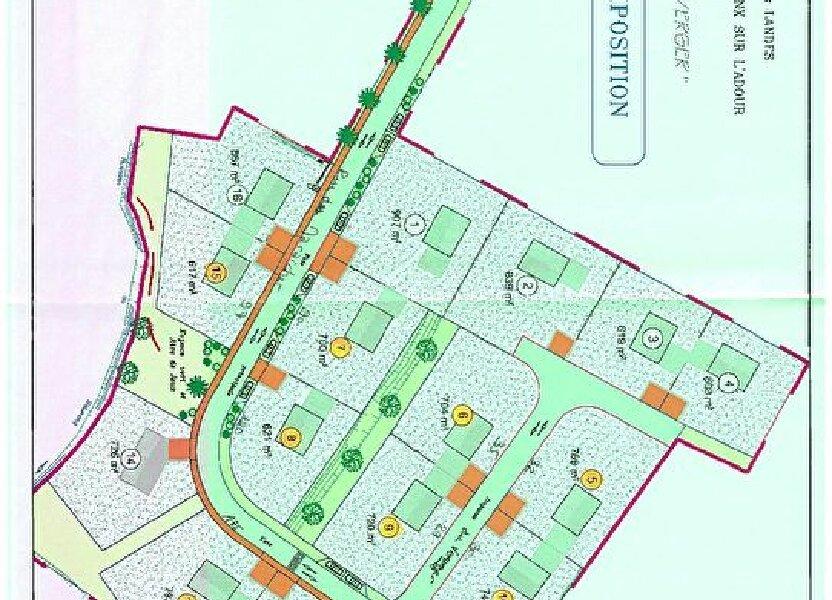 Terrain à vendre 720m2 à Pontonx-sur-l'Adour