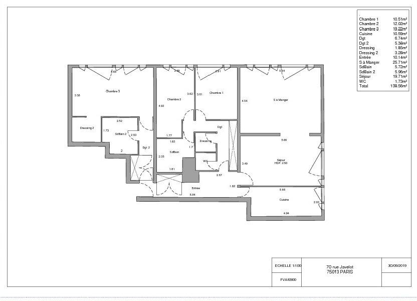 Appartement à vendre 139m2 à Paris 13