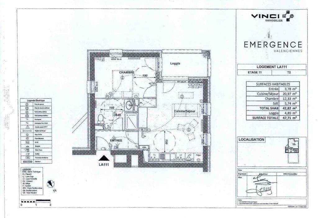 Appartement à louer 2 42.82m2 à Valenciennes vignette-1