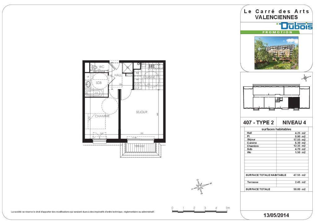 Appartement à louer 2 47.55m2 à Valenciennes vignette-4