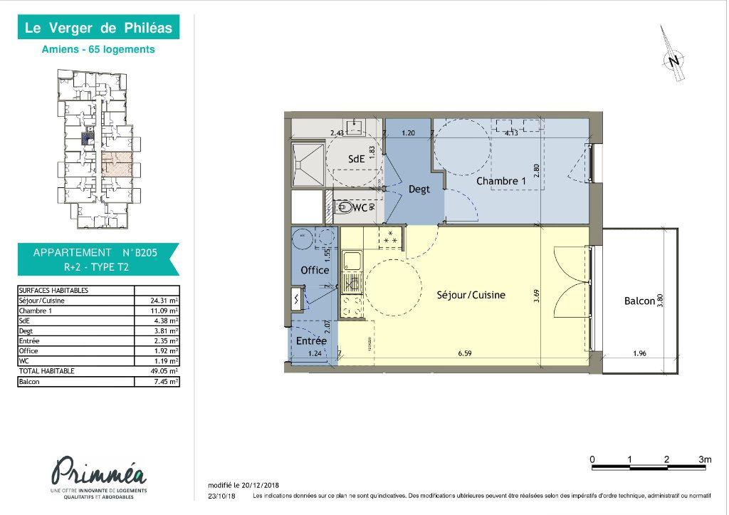 Appartement à louer 2 49.05m2 à Amiens vignette-2