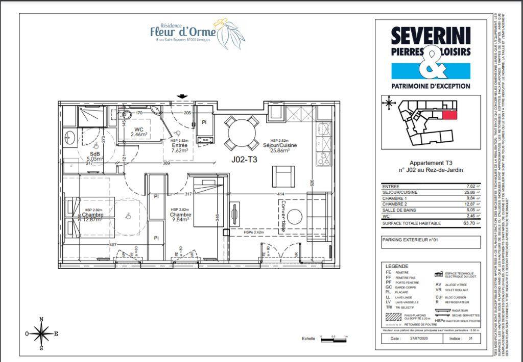 Appartement à vendre 3 63.7m2 à Limoges vignette-4