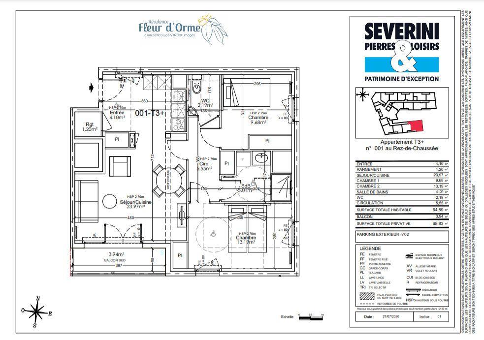 Appartement à vendre 3 64.89m2 à Limoges vignette-4