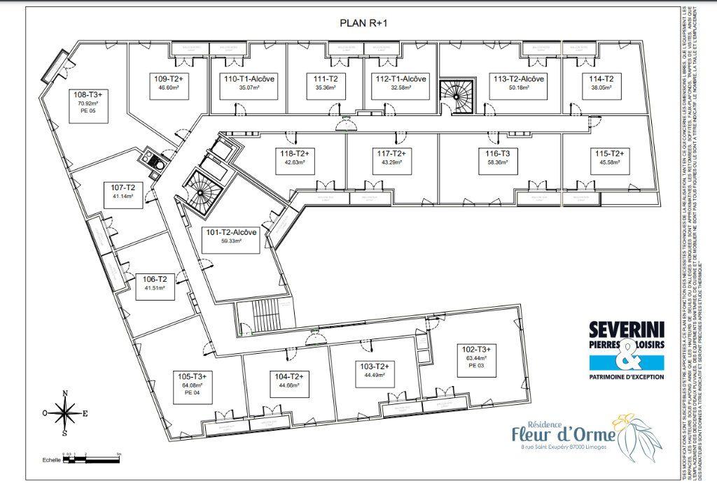 Appartement à vendre 3 63.44m2 à Limoges vignette-7