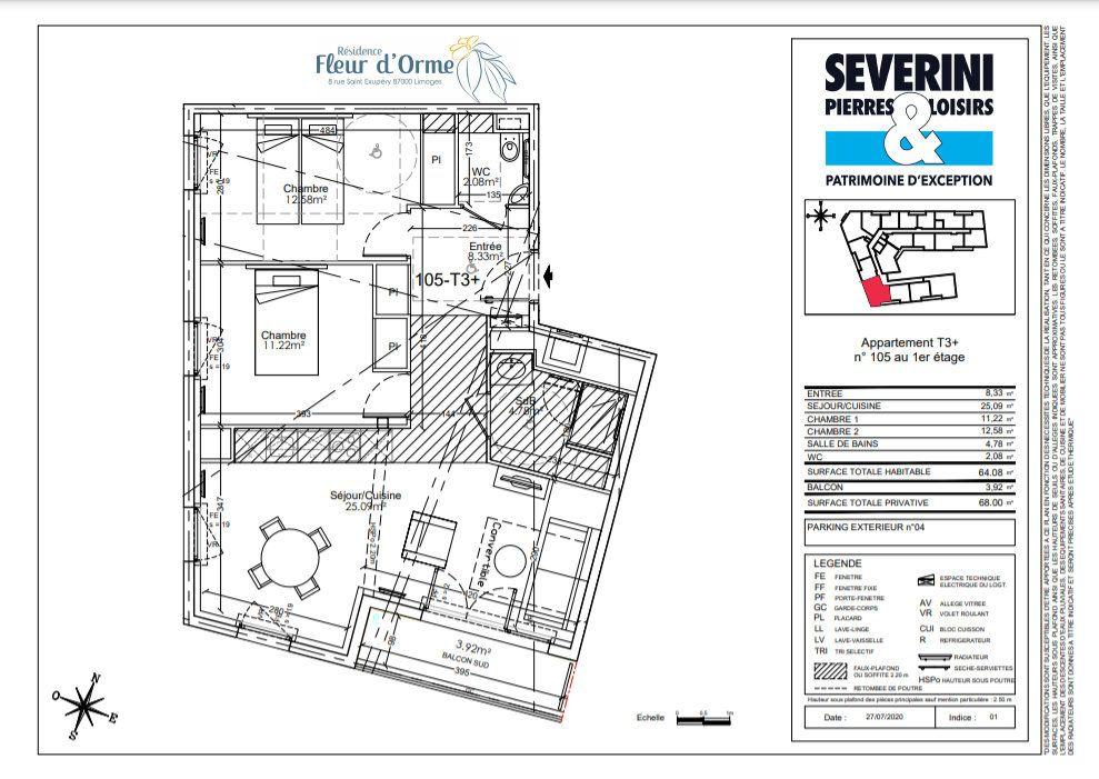 Appartement à vendre 3 64.08m2 à Limoges vignette-4