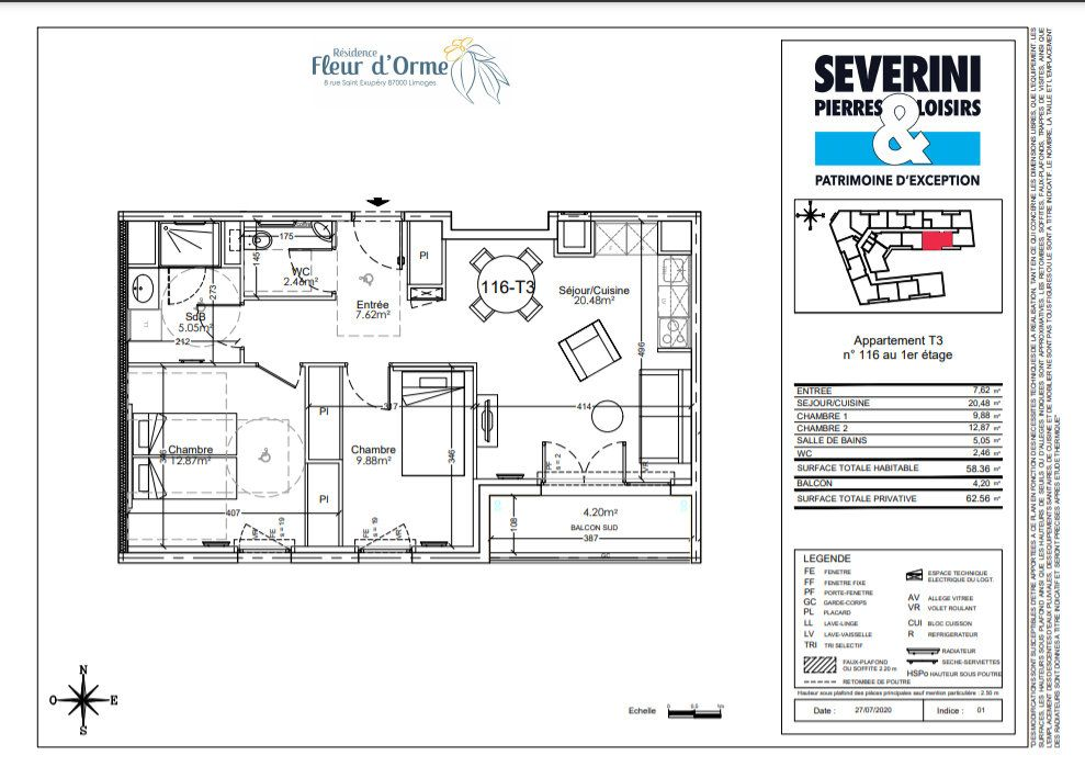 Appartement à vendre 3 58.36m2 à Limoges vignette-4
