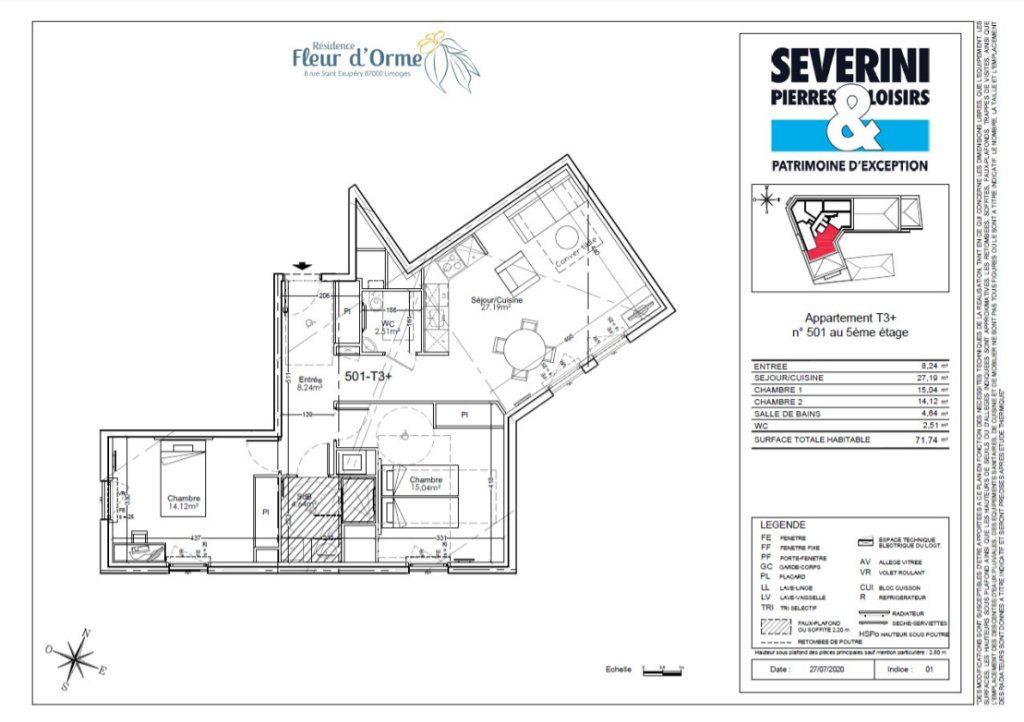 Appartement à vendre 3 71.74m2 à Limoges vignette-4