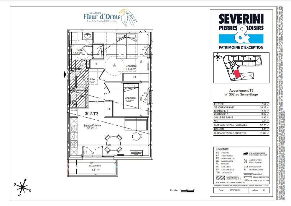Appartement à vendre 3 57.71m2 à Limoges vignette-4