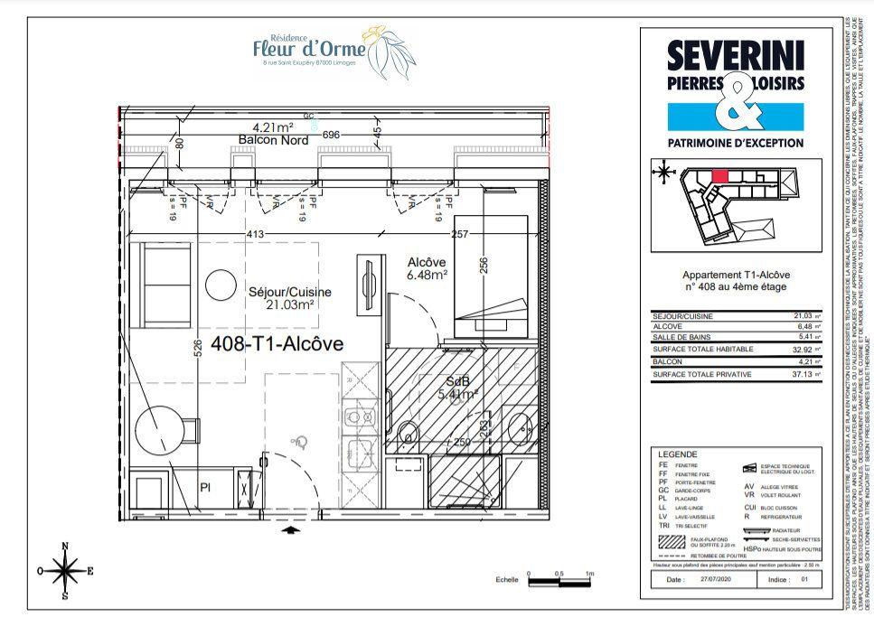 Appartement à vendre 1 32.92m2 à Limoges vignette-4