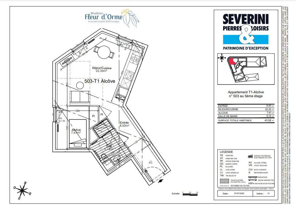 Appartement à vendre 1 43.58m2 à Limoges vignette-4