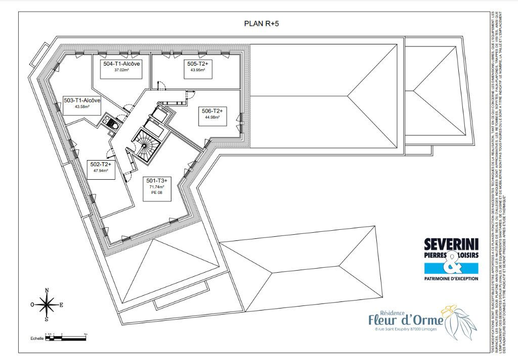 Appartement à vendre 1 43.58m2 à Limoges vignette-7