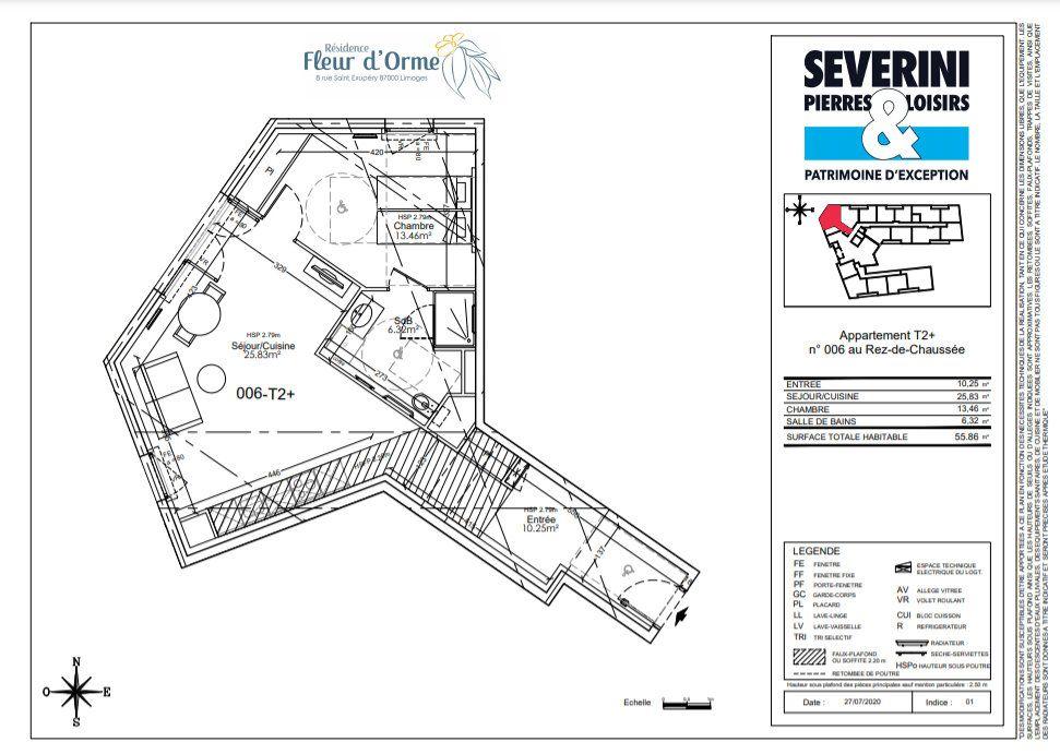 Appartement à vendre 2 55.86m2 à Limoges vignette-4