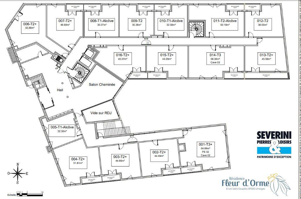 Appartement à vendre 2 55.86m2 à Limoges vignette-7