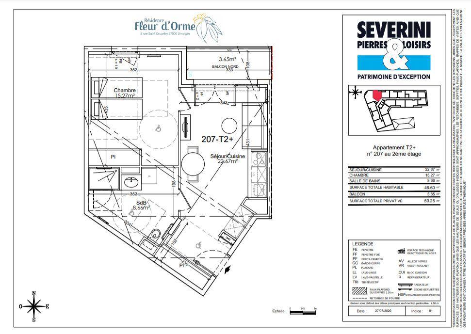 Appartement à vendre 2 46.6m2 à Limoges vignette-4
