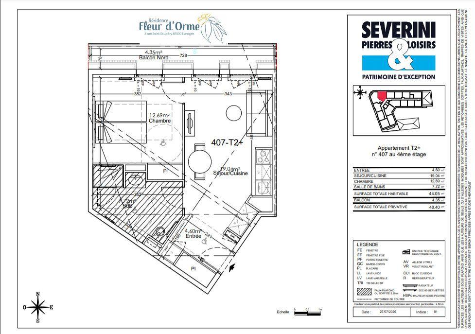 Appartement à vendre 2 44.05m2 à Limoges vignette-4