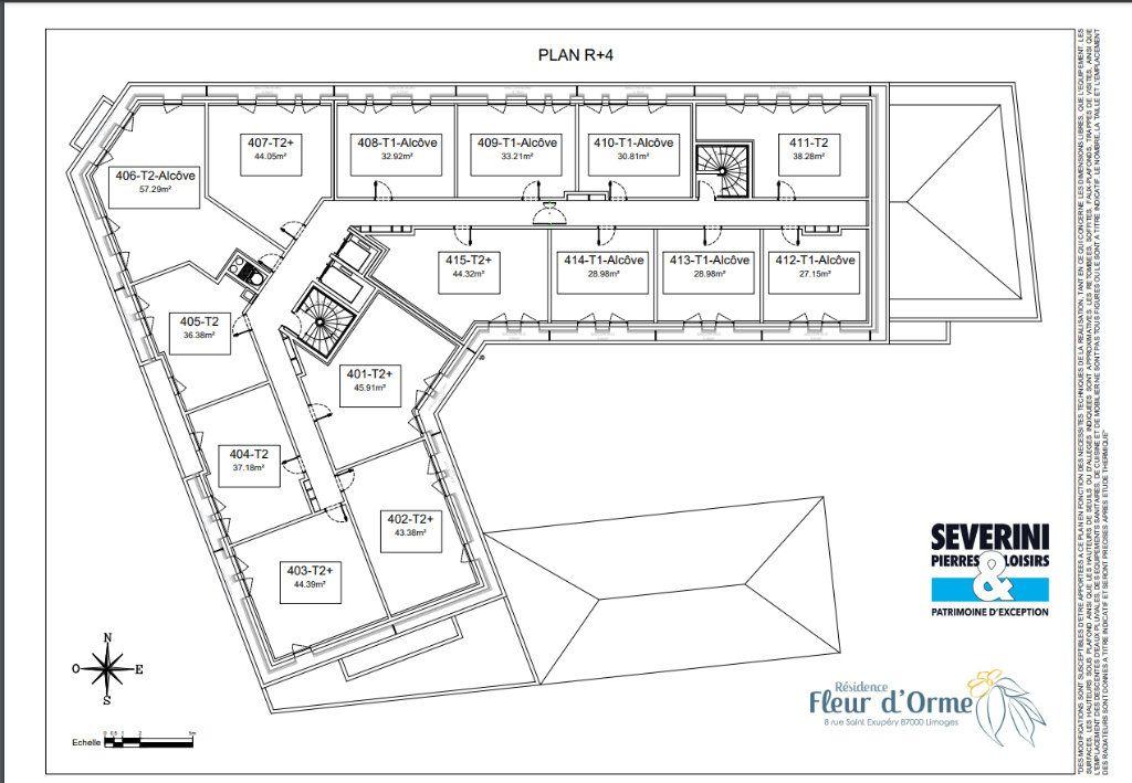 Appartement à vendre 2 44.05m2 à Limoges vignette-7