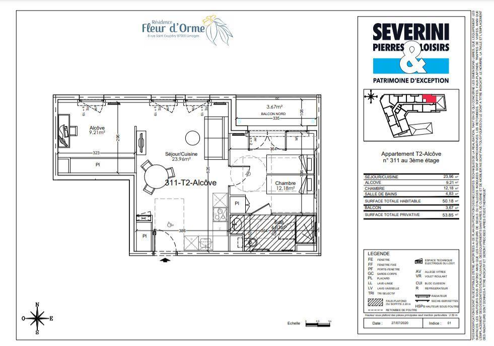 Appartement à vendre 2 50.18m2 à Limoges vignette-4