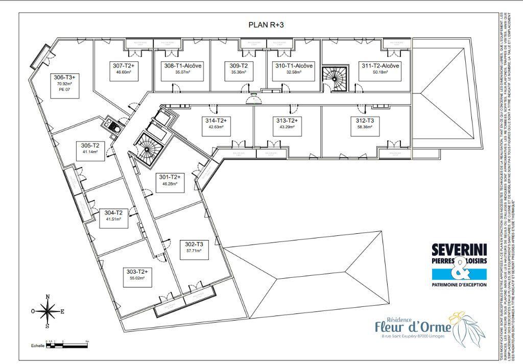 Appartement à vendre 2 50.18m2 à Limoges vignette-7