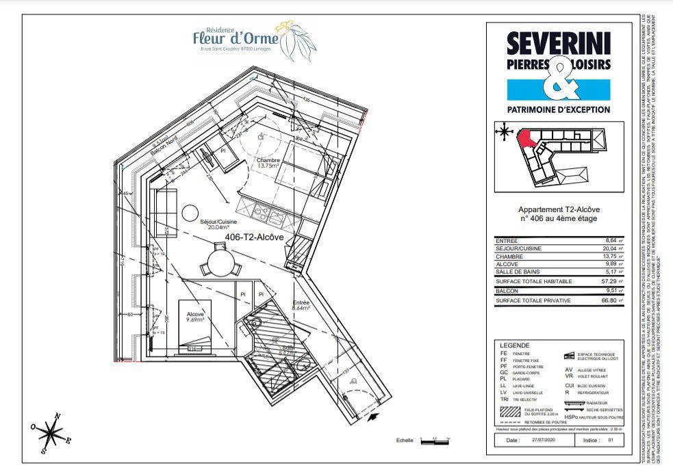Appartement à vendre 3 57.29m2 à Limoges vignette-4