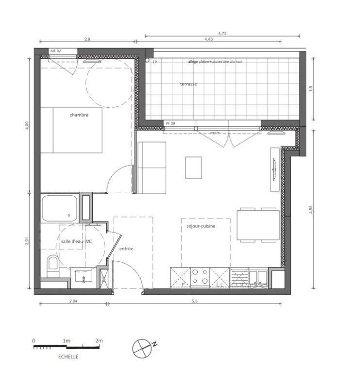 Appartement à vendre 2 41m2 à Marseillan plan-1