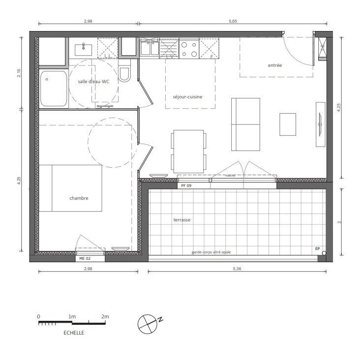 Appartement à vendre 41.75m2 à Marseillan