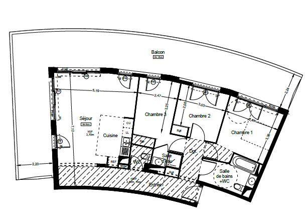 Appartement à vendre 4 87.55m2 à Le Cap d'Agde - Agde vignette-4