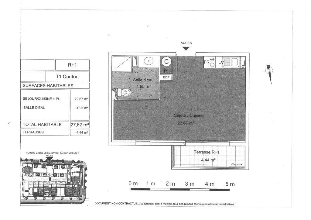 Appartement à vendre 1 27.8m2 à Agde vignette-7