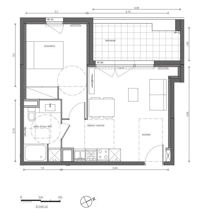 Appartement à vendre 2 41.43m2 à Marseillan vignette-3