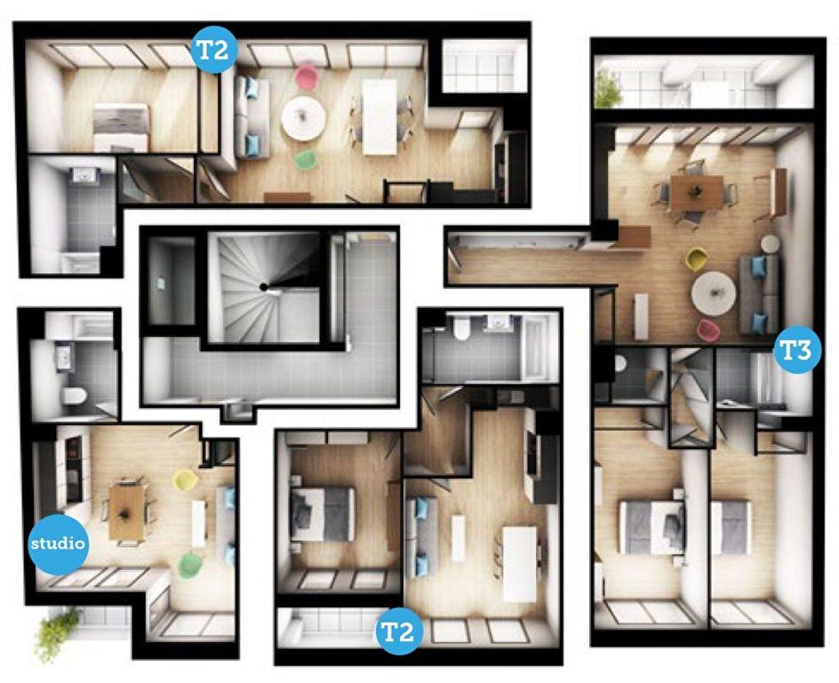 Appartement à vendre 3 66.63m2 à Lille vignette-3
