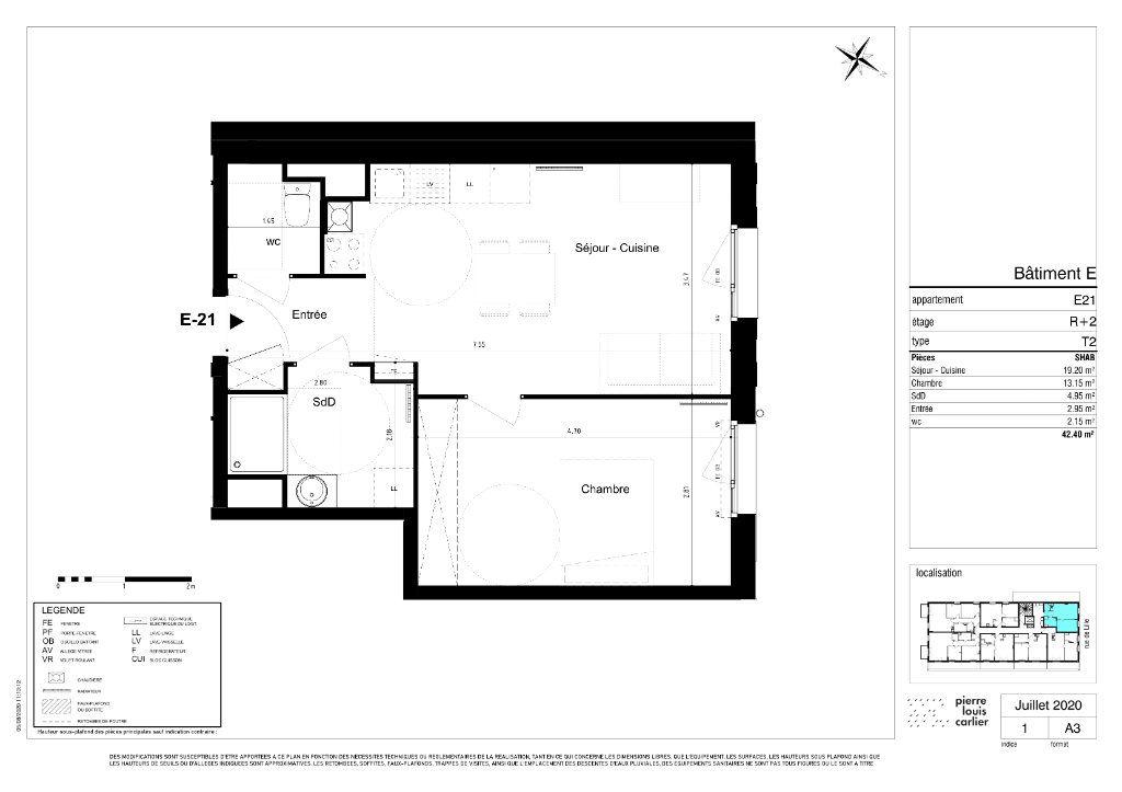 Appartement à vendre 2 42.4m2 à Roubaix vignette-2