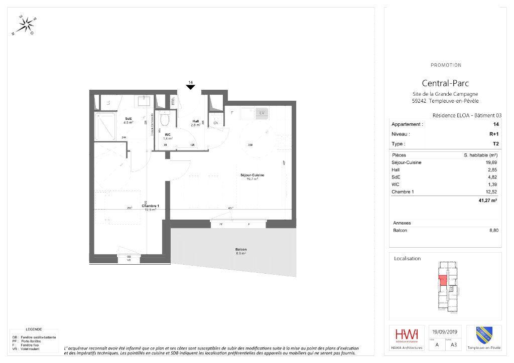 Appartement à vendre 2 41.27m2 à Templeuve vignette-2
