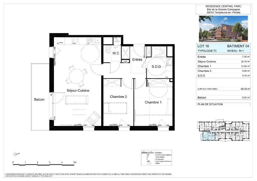 Appartement à vendre 3 64m2 à Templeuve vignette-2