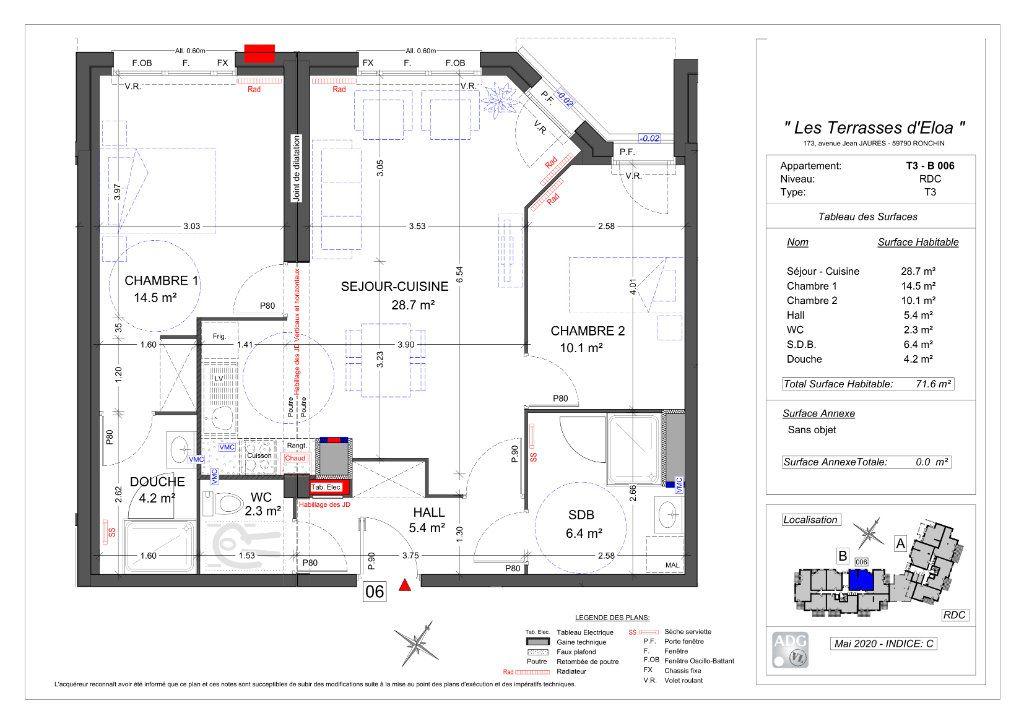 Appartement à vendre 3 71.6m2 à Ronchin vignette-2