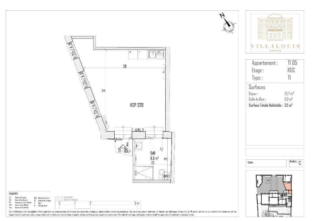 Appartement à vendre 1 32m2 à Arras vignette-2