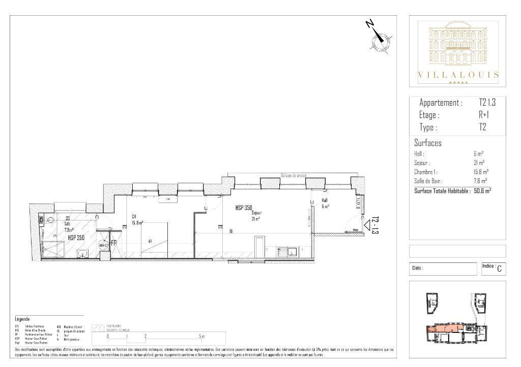 Appartement à vendre 2 50.6m2 à Arras vignette-2