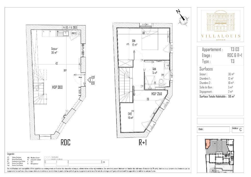 Appartement à vendre 3 59m2 à Arras vignette-2